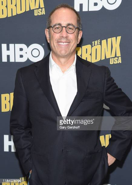 """Jerry Seinfeld attends HBO's """"The Bronx, USA"""" world premiere at Hudson Yards on October 28, 2019 in New York City."""