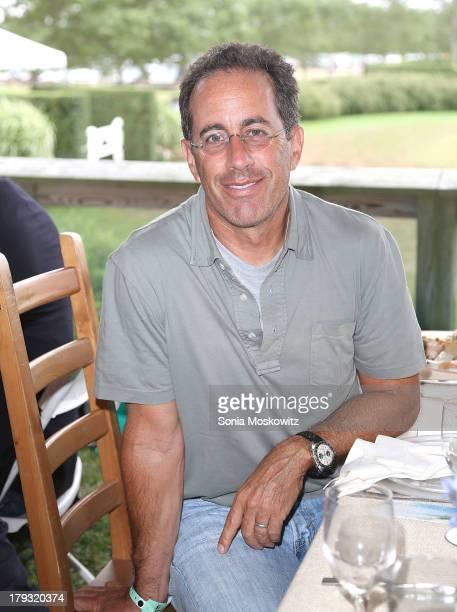 Jerry Seinfeld attends the 38th Annual Hampton Classic Horse Show Grand Prix Sunday on September 1 2013 in Bridgehampton New York
