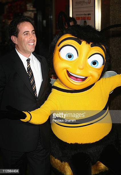 Jerry Seinfeld attends the Bee Movie film premiere held at the Empire Leicester Square on December 6 2007 in London England