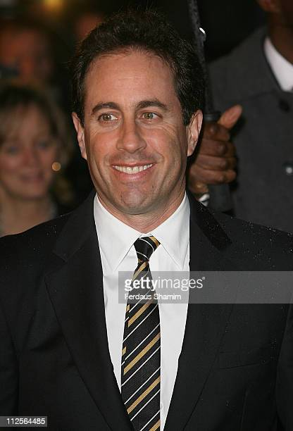 Jerry Seinfeld attends the Bee Movie film premiere held at the Empire Leicester Square on December 6, 2007 in London, England.