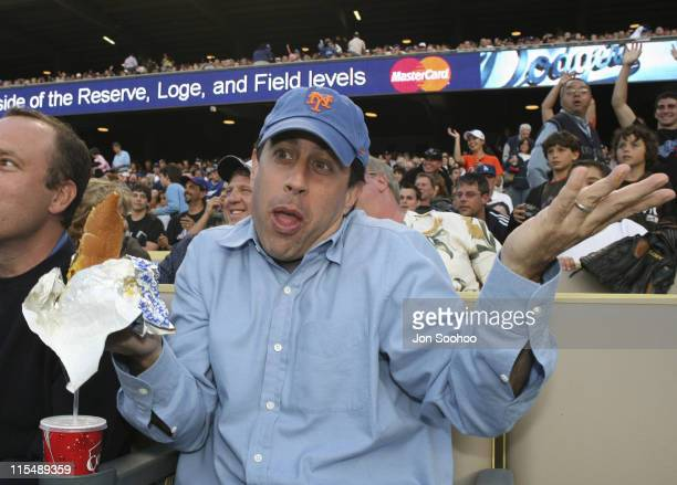 Jerry Seinfeld attends the Los Angeles Dodgers vs New York Mets Monday June 11 2007 at Dodger Stadium in Los AngelesCalifornia