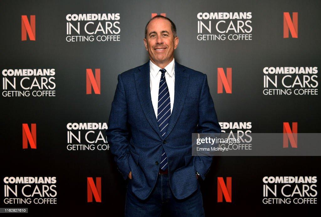 Comedians In Cars w. Jerry Seinfeld & Eddie Murphy ‑ LA Tastemaker : News Photo