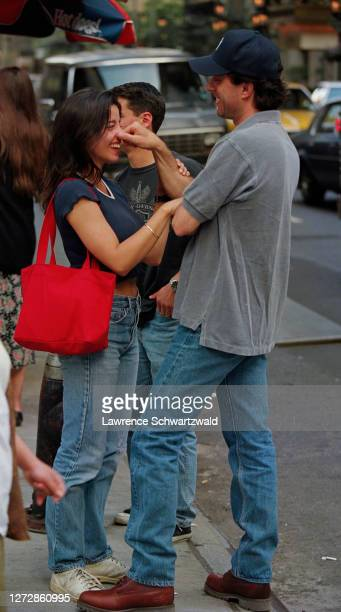 Jerry Seinfeld bumped into his girlfriend Shoshanna Lonstein accidentally on Fifth Avenue on June 1 in NYC Jerry pinched her nose