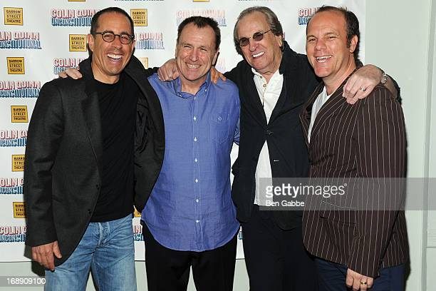Jerry Seinfeld Colin Quinn Danny Aiello and Tom Papa attend Unconstituional Off Broadway Opening Night at Barrow Street Theater on May 16 2013 in New...