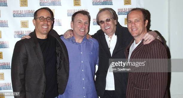 Jerry Seinfeld Colin Quinn Danny Aiello and Tom Papa attend the Colin Quinn Unconstituional OffBroadway Opening Night at the Barrow Street Theater on...