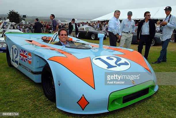 Jerry Seinfeld drives his vintage Porsche 917, made famous by the movie Le Mans, in Monterey Saturday, August 15, as part of the Monterey Historic...