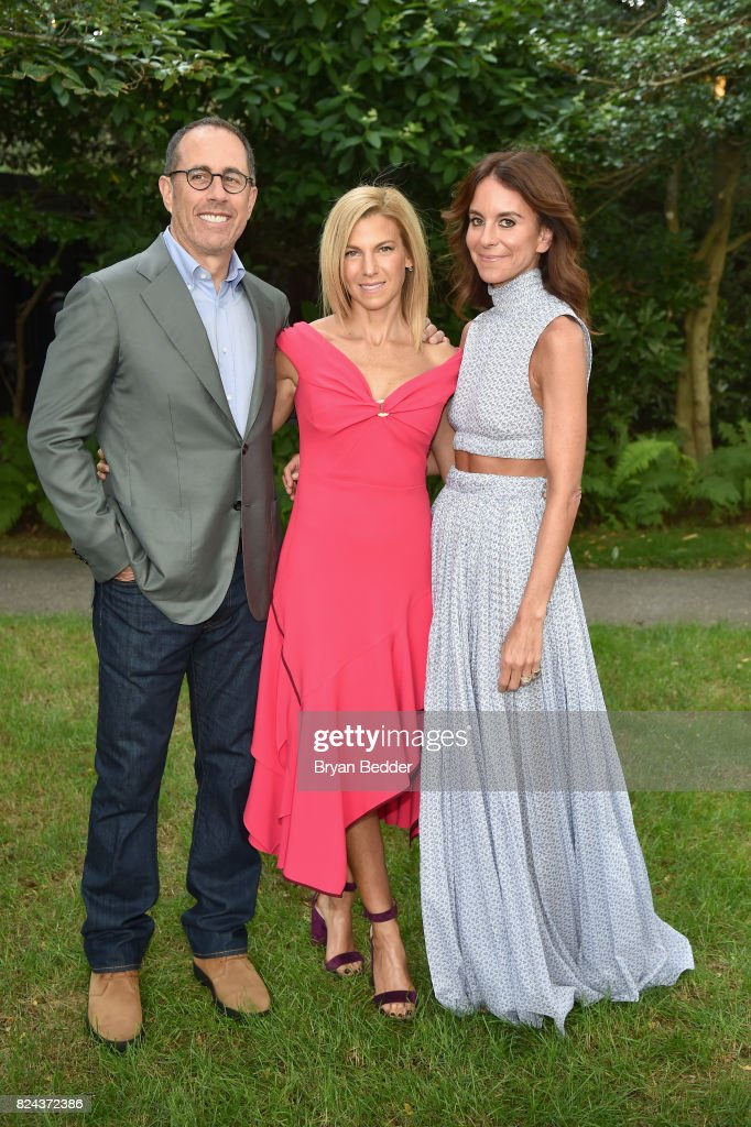 Jerry Seinfeld, Jessica Seinfeld and Alison Loehnis attend The GOOD+ Foundation's Hamptons Summer Dinner co-hosted by NET-A-PORTER on July 29, 2017 in East Hampton, New York.