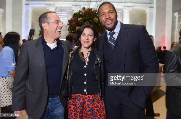 Jerry Seinfeld Jessica Seinfeld and Michael Strahan attend Amazon Studios Premiere Screening for 'Alpha House' on November 11 2013 in New York City