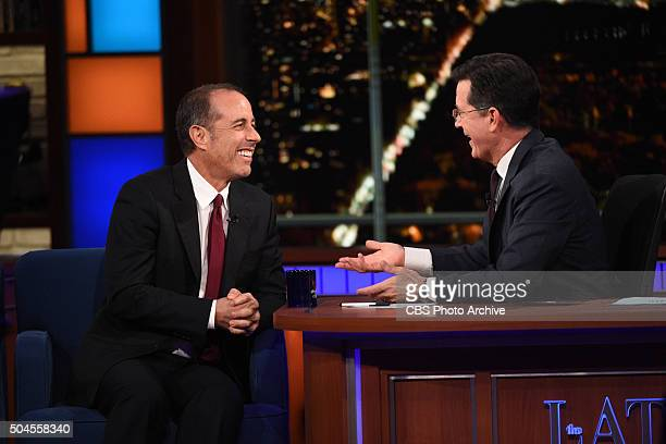 Jerry Seinfeld on The Late Show with Stephen Colbert Wednesday Jan 6 2016 on the CBS Television Network