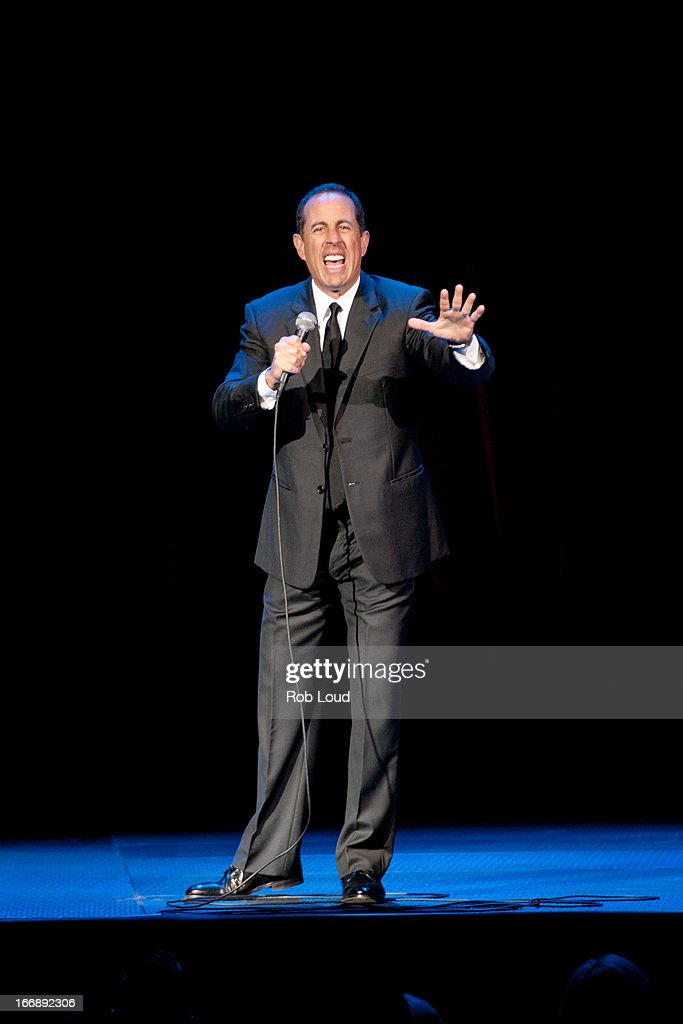 Jerry Seinfeld performs at Stand Up For a Cure at Madison Square Garden on April 17, 2013 in New York City.