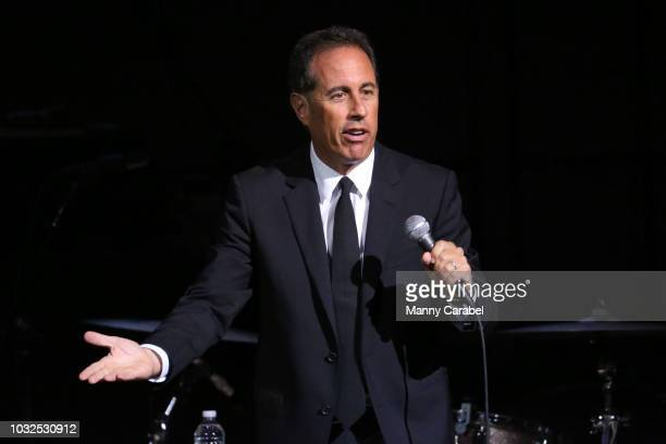 """Jerry Seinfeld performs during the GOOD + Foundation """"An Evening of Comedy + Music"""" Benefit at Carnegie Hall on September 12, 2018 in New York City."""