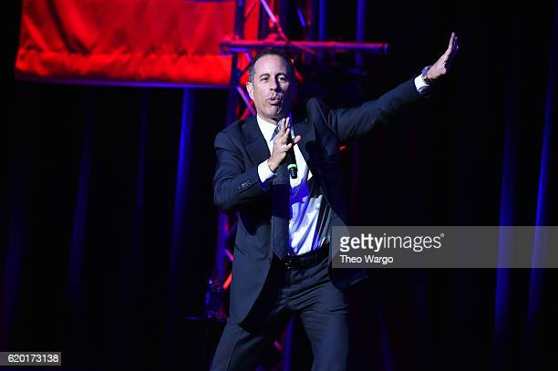 Jerry Seinfeld performs on stage during 10th Annual Stand Up For Heroes at The Theater at Madison Square Garden on November 1 2016 in New York City