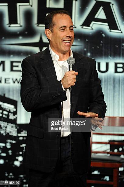 Jerry Seinfeld performs onstage during the 8th Annual Laugh For Sight AllStar Comedy Benefit at Gotham Comedy Club on October 28 2013 in New York City