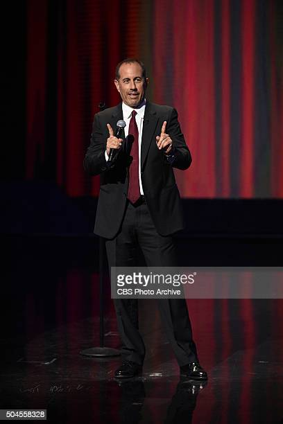 Jerry Seinfeld performs Standup on The Late Show with Stephen Colbert Wednesday Jan 6 2016 on the CBS Television Network