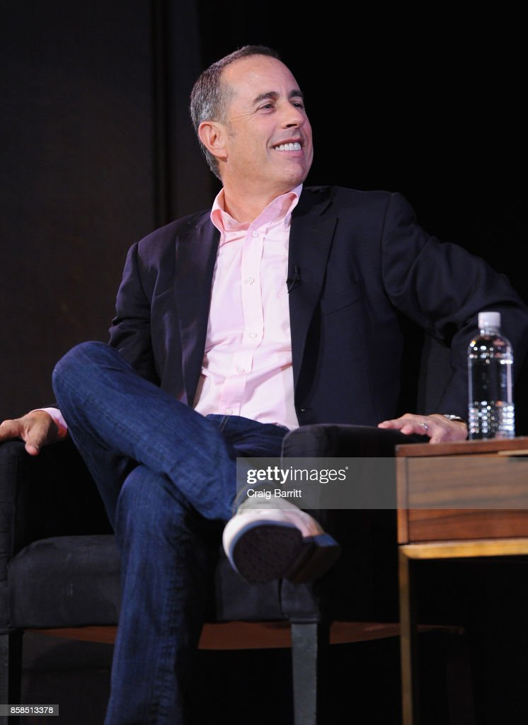 Jerry Seinfeld speaks onstage during the 2017 New Yorker Festival at New York Society for Ethical Culture on October 6, 2017 in New York City.