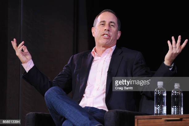 Jerry Seinfeld speaks onstage during the 2017 New Yorker Festival at New York Society for Ethical Culture on October 6 2017 in New York City