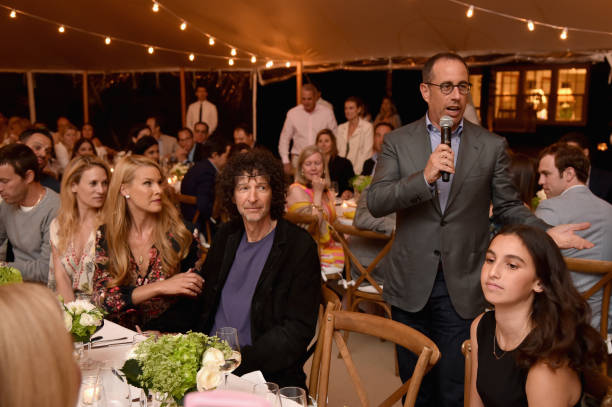6d1d8bcb52e Jerry Seinfeld speaks to guests during The GOOD+ Foundation s Hamptons Summer  Dinner co-hosted by