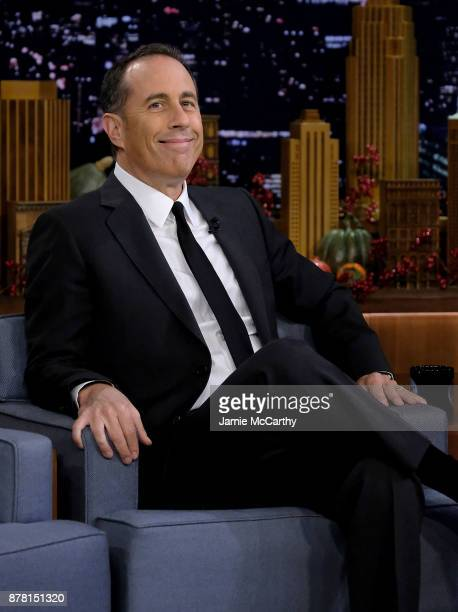 Jerry Seinfeld visits 'The Tonight Show Starring Jimmy Fallon' at Rockefeller Center on November 21 2017 in New York City