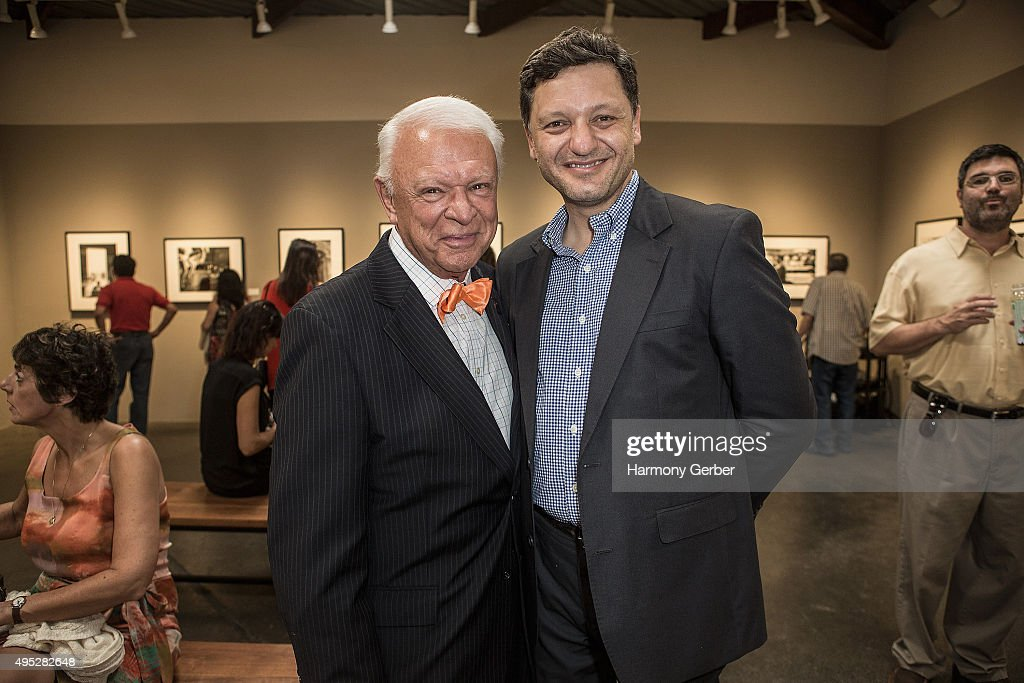 Jerry Sharell and Mario Marino attend the 'Frank Sinatra and Audrey Hepburn: A Life In Pictures' opening reception at Peter Fetterman Gallery at Bergamot Station on November 1, 2015 in Santa Monica, California.
