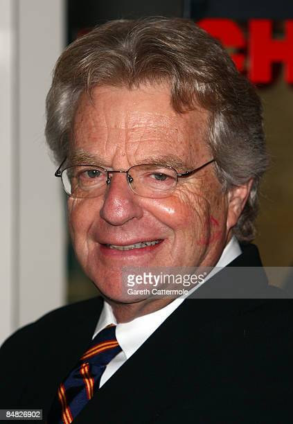 Jerry Springer poses at The Cambridge Theatre on February 17 2009 in London England Jerry Springer will be starring in the hit musical for six weeks...