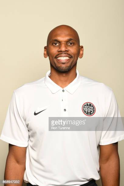 Jerry Stackhouse of the Raptors 905 poses for a head shot during NBA GLeague media day on October 31 2017 at the Hershey Centre in Mississauga...