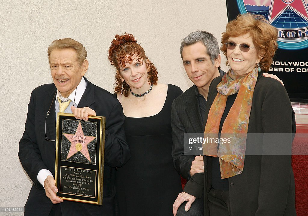 Jerry Stiller and Anne Meara Honored with a Star on the Hollywood Walk of Fame : News Photo