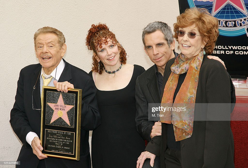 Jerry Stiller, Amy Stiller, Ben Stiller and Anne Meara ...