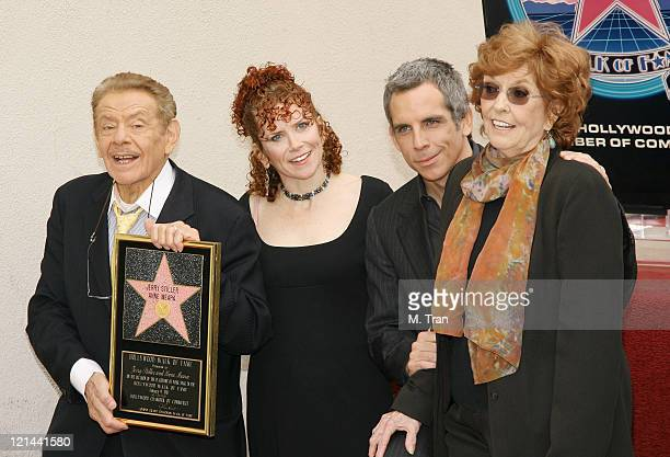 Jerry Stiller, Amy Stiller, Ben Stiller and Anne Meara