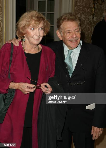 Jerry Stiller and Anne Meara during Signature Theatre Company Honor Edward Albee and Elizabeth Ireland McCann at Essex House in New York, New York,...
