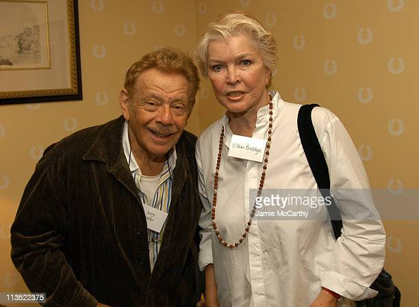 Jerry Stiller and Ellen Burstyn during The Creative Coalition's Private TCC Meeting with House Minority Leader Nancy Pelosi at The Four Seasons Hotel...