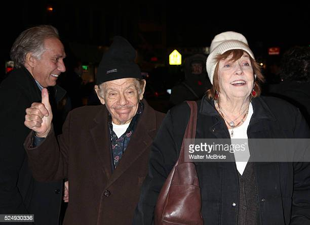 Jerry Stiller Anne Meara arriving for the Broadway Opening Night performance of Manhattan Theatre Club's TIME STANDS STILL at the Samuel J Friedman...