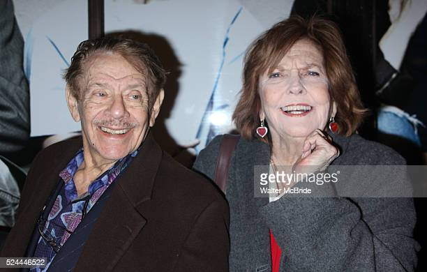 Jerry Stiller Anne Meara arriving the the Broadway Opening Night performance of Next Fall at the Helen Hayes Theatre in New York City March 11 2010