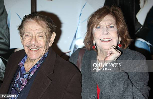 Jerry Stiller Anne Meara arriving the the Broadway Opening Night performance of Next Fall at the Helen Hayes Theatre in New York City March 11 2010...