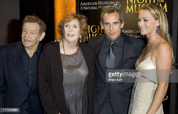 Jerry Stiller Anne Meara Ben Stiller and Christine Taylor