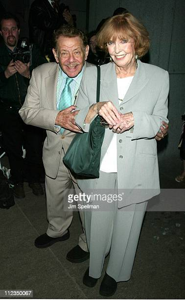 Jerry Stiller Anne Meara during Atlantic Theater Company's Spring Gala Benefit A Night In The City Tribute To Michael Patrick King at Regent Wall...
