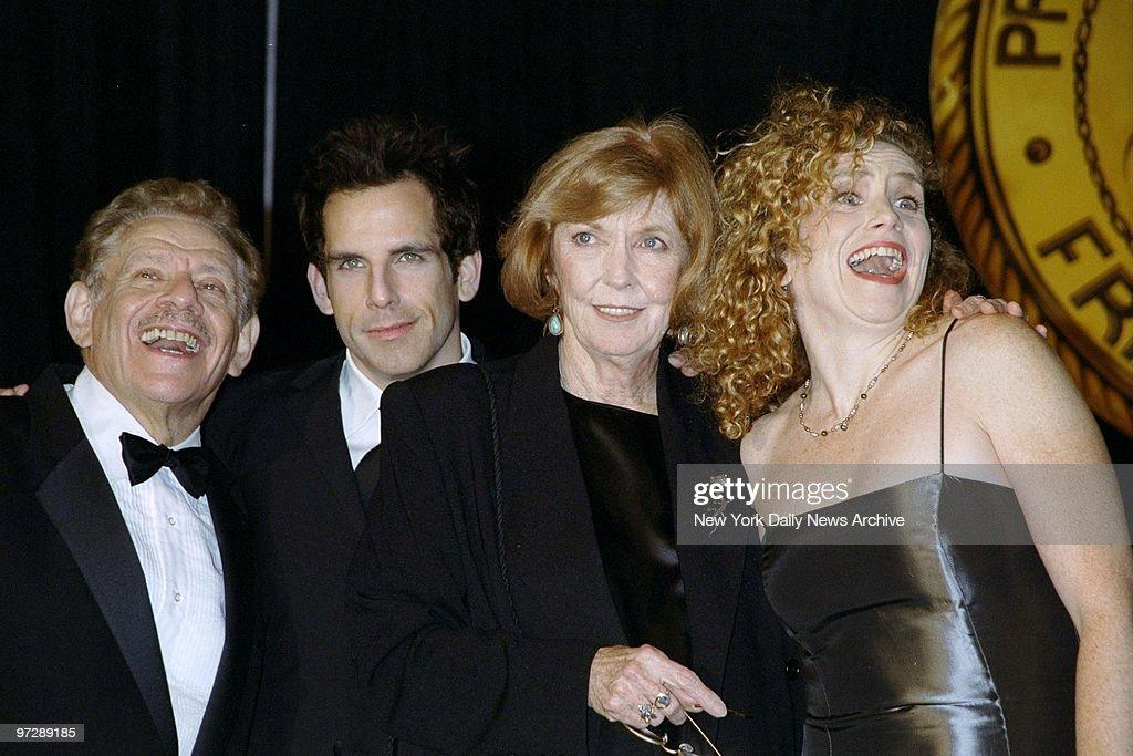 Jerry Stiller, son Ben Stiller, wife Anne Meara and daughter : News Photo