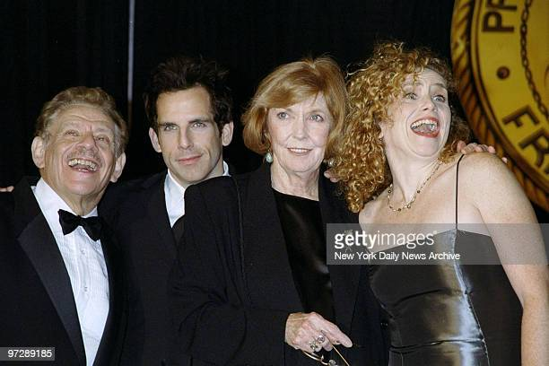 Jerry Stiller son Ben Stiller wife Anne Meara and daughter Amy Stiller at Friars Club Roast for Jerry at the Hilton Hotel
