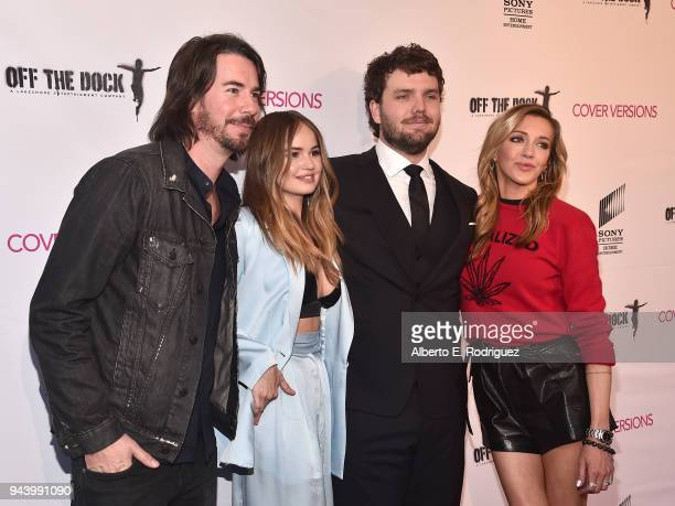 Jerry Trainor Debby Ryan Austin Swift and Katie Cassidy attend the premiere of Sony Pictures Home Entertainment and Off The Dock's Cover Versions at...