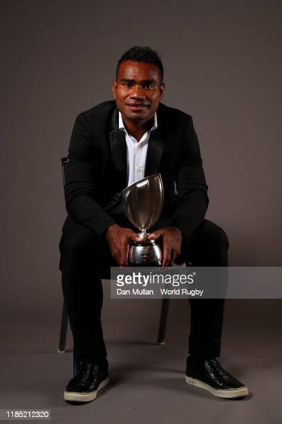 Jerry Tuwai of Fiji winner of the World Rugby Men's Sevens Player of the Year in association with HSBC poses for a portrait during the World Rugby...