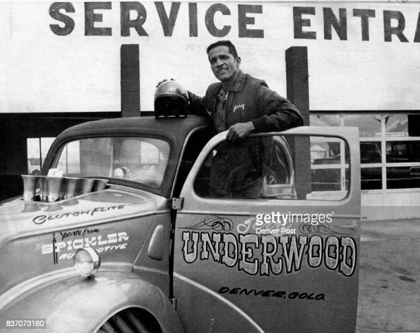 Jerry Underwood and 1948 Ford Dragster Credit The Denver Post
