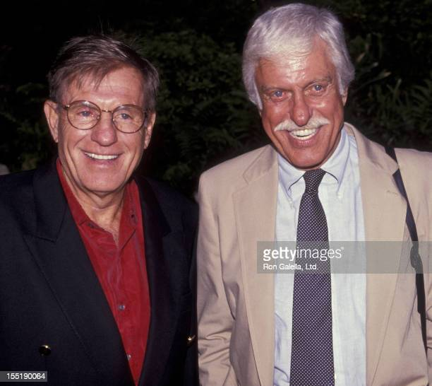 Jerry Van Dyke and actor Dick Van Dyke attend the nominees luncheon for 43rd Annual Primetime Emmy Awards on August 20 1991 at the Westwood Marquis...