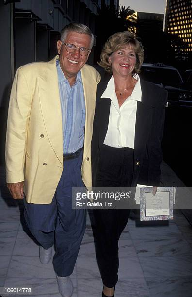 Jerry Van Dyke and Shirley Jones during 1993 ABC Affliates Dinner at Century Plaza Hotel in Century City California United States