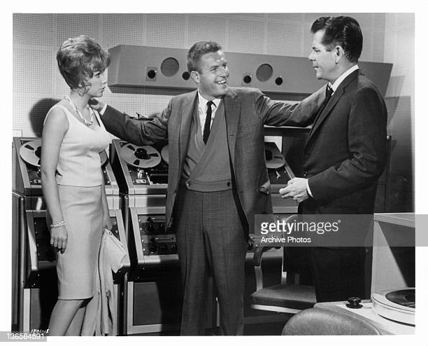 Jerry Van Dyke couldn't be happier to introduced to Stella Stevens by Glenn Ford in a scene from the film 'The Courtship Of Eddie's Father' 1963