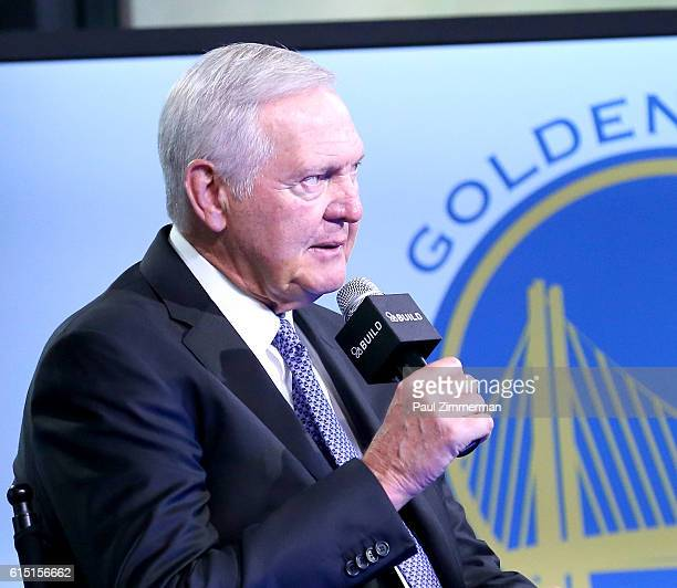 Jerry West attends The Build Series Presents to discuss the Upcoming NBA Season And His Personal Battle With Atrial Fibrillation at AOL HQ on October...