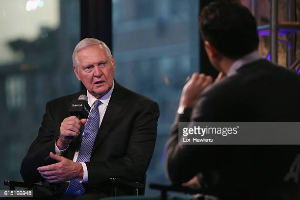Jerry West discusses the upcoming NBA Season and his personal battle with Atrial Fibrillation at the Build Series at AOL HQ on October 17 2016 in New...