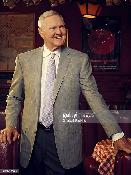Jerry West is photographed at restaurant Dan Tana's for The Hollywood Reporter on October 3 2014 in Los Angeles California