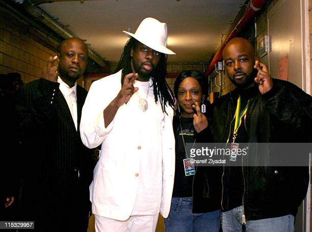 Jerry Wonder, Wyclef, Trini and E Diamonds during VP Records 25th Anniversary - Arrivals and Concert at Radio City Music Hall in New York City, New...