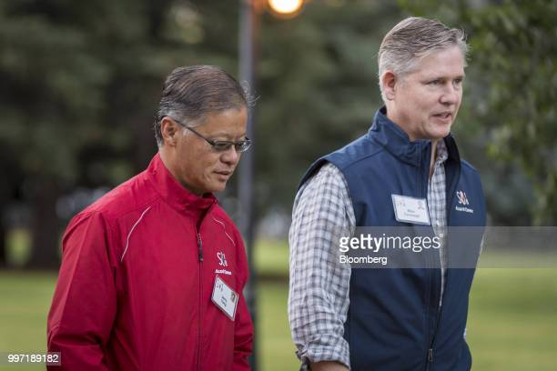 Jerry Yang former chief executive officer of Yahoo Inc and Michael Cavanagh senior executive vice president and chief financial officer of Comcast...