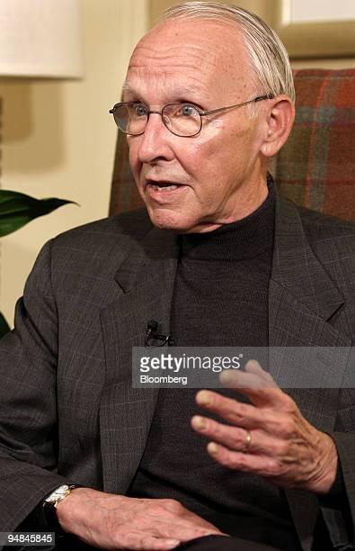Jerry York an adviser to billionaire investor Kirk Kerkorian speaks during an interview in Tarrytown New York US on Monday April 28 2008 Kerkorian...