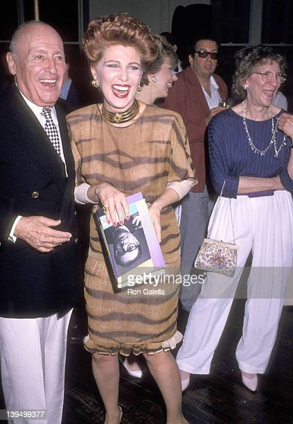 Jerry Zipkin and cosmetic entrepreneur Georgette Mosbacher and writer Bob Colacello attend the Party to Celebrate Bob Colacello's Book Holy Terror...